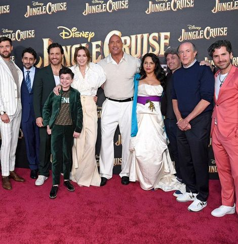 ドウェイン・ジョンソンも興奮!米ディズニーで『ジャングル・クルーズ』ワールドプレミア開催