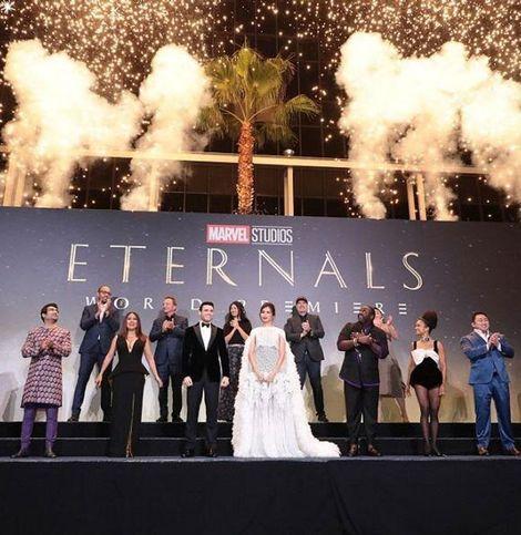 MCU最新作にファン熱狂!『エターナルズ』ワールドプレミアが開催