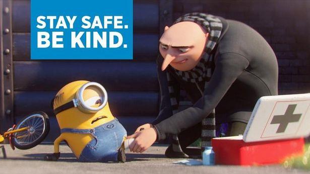 「お互いに親切でいよう」というメッセージが込められたミニオンとグルーの特別映像が到着!