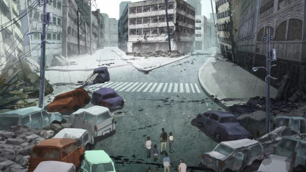 崩壊していく日本の残酷な描写に、牛尾憲輔のやさしいメロディが寄り添う