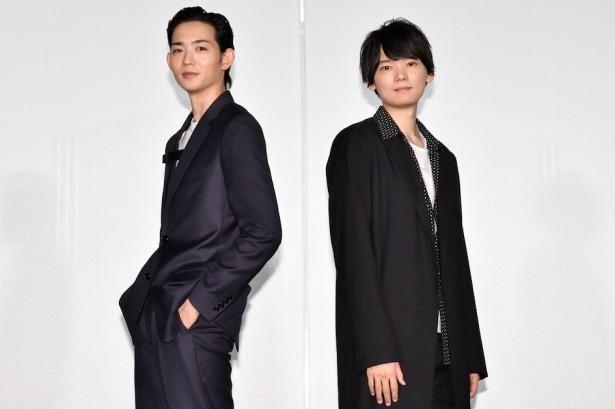 『リスタートはただいまのあとで』の記者会見に登壇した古川雄輝と竜星涼