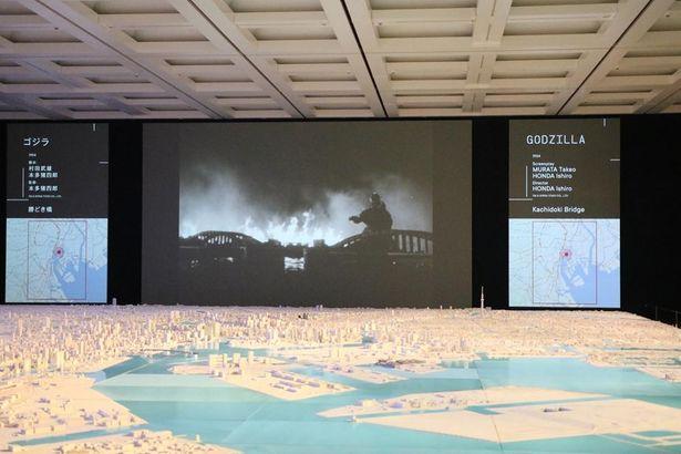 入口を抜けると、1/1000スケールの模型で再現された東京の街並みが広がる