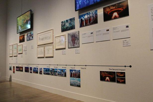 「エヴァンゲリオン」の制作資料を展示