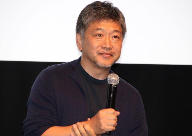 第33回東京国際映画祭ラインナップ発表記者会見に出席した是枝裕和監督
