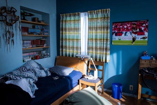 サッカー少年らしい規士の部屋
