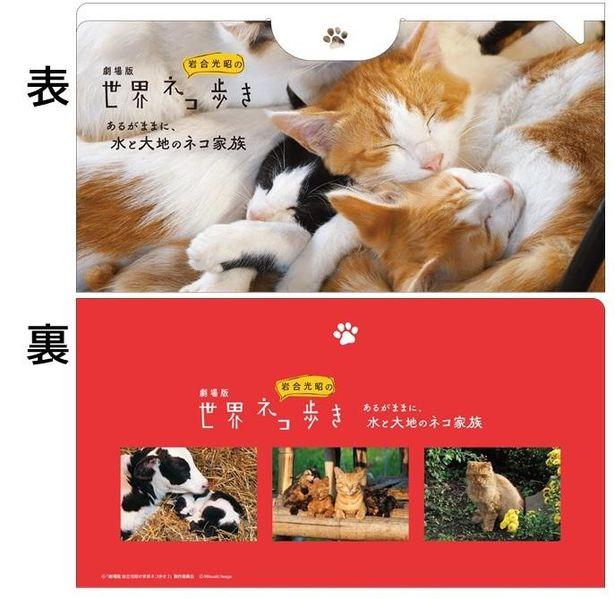 【写真を見る】『岩合光昭の世界ネコ歩き』ムビチケ前売券(カード)の特典はオリジナルマスクケース
