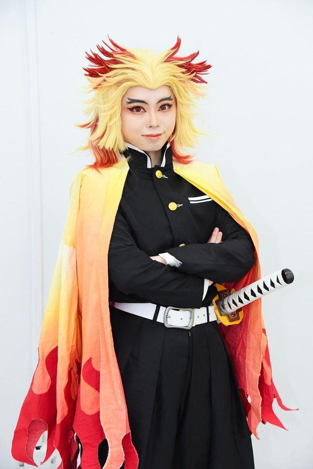 「鬼滅の刃」の煉獄杏寿郎に扮するkokone.Mさん