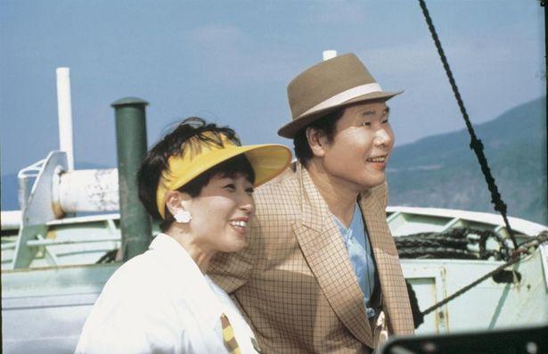 三船敏郎演じる父、順吉と竹下景子扮する娘、りん子の仲を寅さんがとりもつ『男はつらいよ 知床慕情』