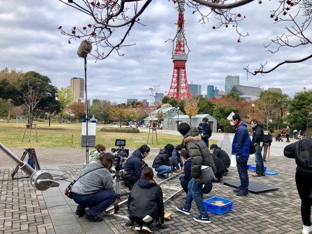 東京タワーが見える夜景を撮りたいというオーダーが港区にあったという