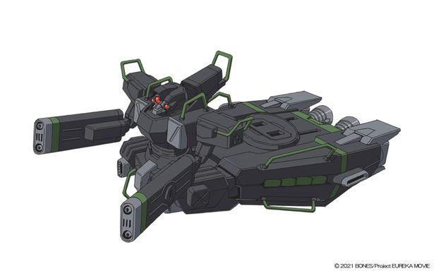 オデッセイ指揮官機。両腕がガンランチャーになっており、エンジン上部にはミサイルランチャーを搭載している