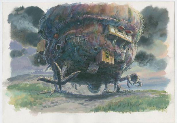 今にも動き出しそうな『ハウルの動く城』(04)の美術ボード