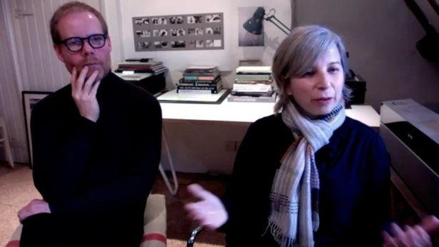 オンラインインタビューに応じてくれたリヒターとユリア・マール