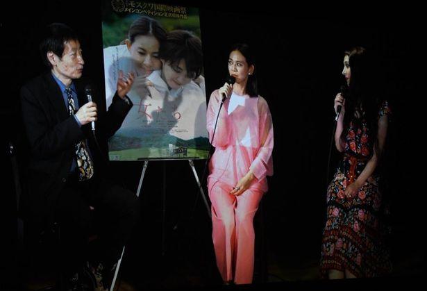 篠原ゆき子、サヘル・ローズ、奥山和由プロデューサーが3人でトーク