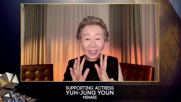 本年度英国アカデミー賞でも助演女優賞を受賞したヨジョン