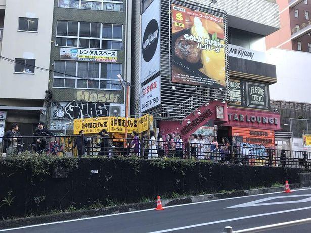 渋谷での撮影は90年代の雰囲気が残る東急ハンズやその向かいで行われた