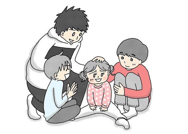 """高校生の長男、中学生の次男、小学生の三男、4歳の長女という""""年の差兄妹""""のほっこりエピソード漫画が人気"""