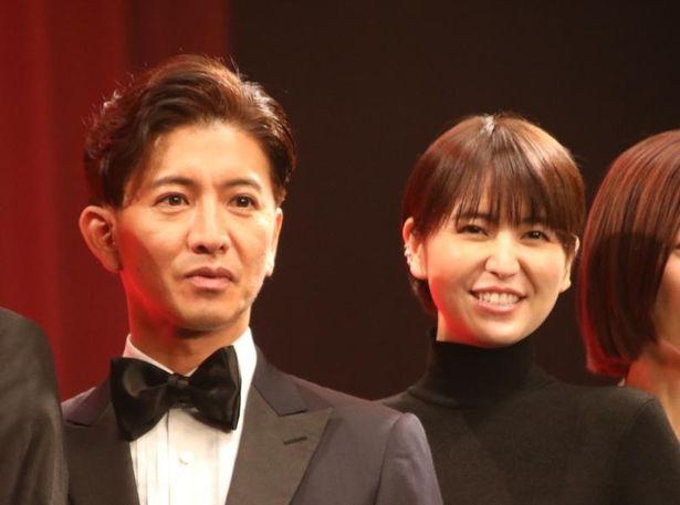 【写真を見る】『マスカレード・ナイト』の完成披露試写会が開催!長澤まさみが「木村さんは座長としての信頼感と安心感が200%」と笑顔