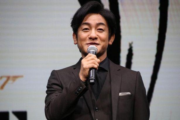 「007」ファンの代表として参加した片岡愛之助と前田敦子