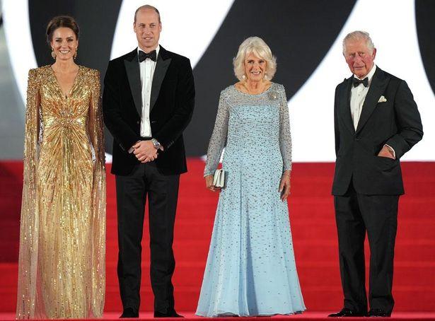 チャールズ皇太子夫妻、ウィリアム王子夫妻がそろって登場した『007/ノー・タイム・トゥ・ダイ』ワールドプレミア