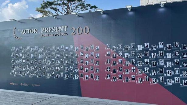 釜山国際映画祭のメイン会場である「映画の殿堂」で開催されている写真展の様子