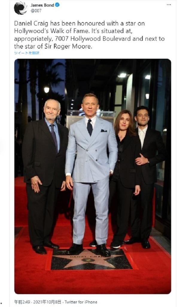 【写真を見る】6代目ボンドのダニエル・クレイグ、ハリウッドの殿堂入り!クレイグ版ボンドをチェックバック