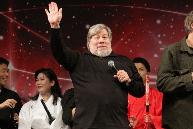 東京コミコン名誉顧問であり、スティーブ・ジョブズらと共にApple社を創立したスティーヴ・ウォズニアック