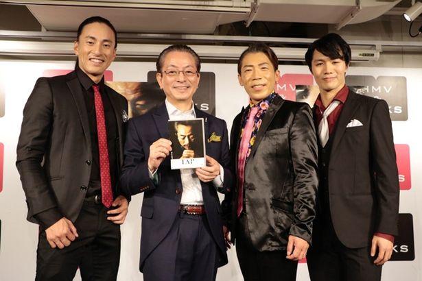 11月29日、渋谷で行われた『TAP~』DVD発売イベントにて、監督とダンサーの面々