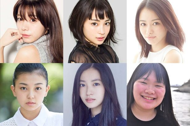 なかよし6人組を演じる、写真左上から池田エライザ、広瀬すず、山本舞香、野田美桜、田辺桃子、富田望生