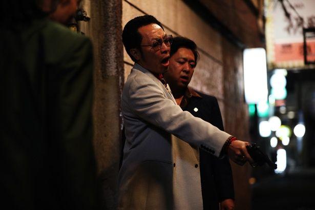 暴力団員・吉田を演じる音尾琢真。絶妙なチンピラ感が漂っている