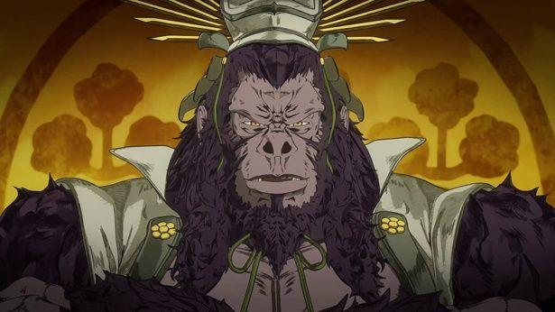 フラッシュの宿敵で、高度な知性とテレパシーを持つゴリラ・グロッドは兜から察するに豊臣秀吉か