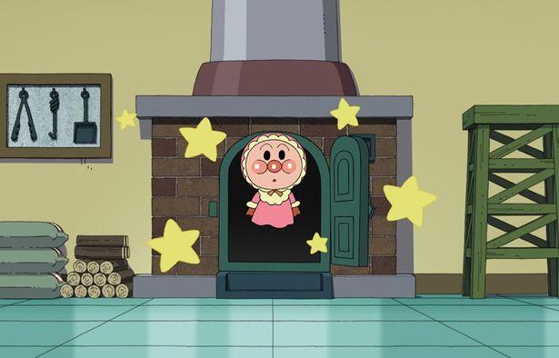 """かわいい!ジャムおじさんが作るパンに""""いのちの星""""が落ちて誕生した、赤ちゃんアンパンマン(『クルンといのちの星』)"""