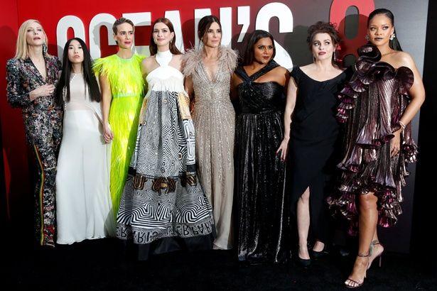 『オーシャンズ8』のNYプレミアでの女優たち