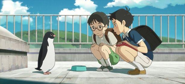 街に突然ペンギンが!そんな胸躍るシチュエーションでもアオヤマ君はじっくり観察(『ペンギン・ハイウェイ』 )