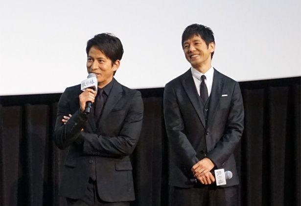 黒木華と岡田准一のやり取りに、共演の西島秀俊が思わず笑顔に