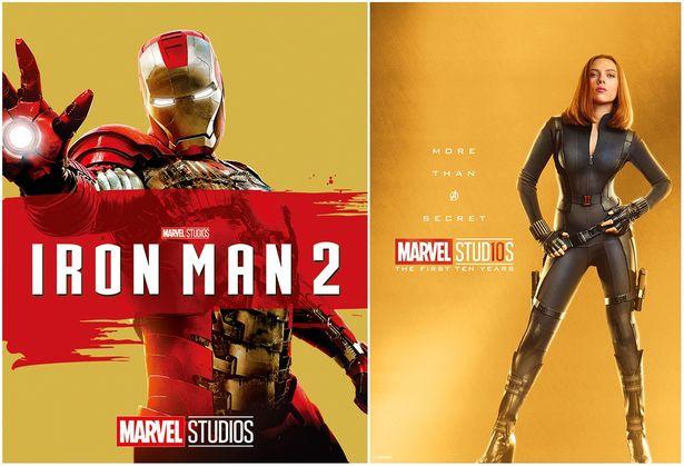 左:『アイアンマン2 MovieNEX』 右:ブラック・ウィドウ