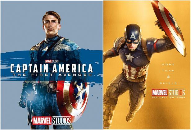 左:『キャプテン・アメリカ/ザ・ファースト・アベンジャー MovieNEX』 右:キャプテン・アメリカ