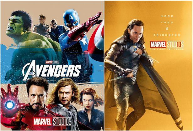 左:『アベンジャーズ MovieNEX』 右:ロキ