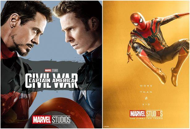 左:『シビル・ウォー/キャプテン・アメリカ MovieNEX』 右:スパイダーマン