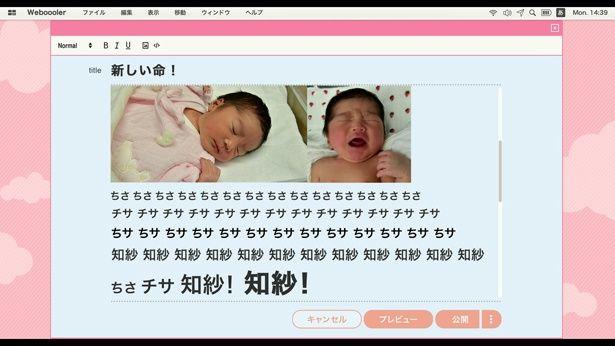 娘の誕生にテンションMAXなブログ記事