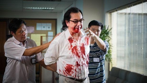 不眠症のサイコパスを演じるウォン。不気味すぎっ!(『ザ・スリープ・カース』)