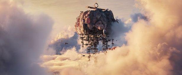 【写真を見る】まるで『天空の城ラピュタ』のラピュタのような空中都市