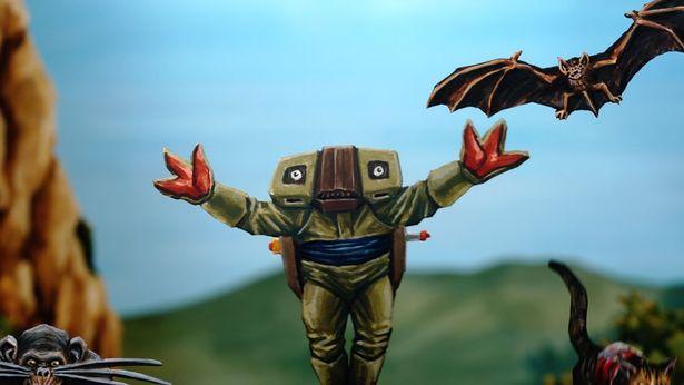ロボット風の敵など、どこかノスタルジックなデザインも印象的