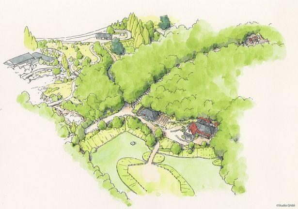 「どんどこ森エリア」は、昭和の田園風景的なものになる