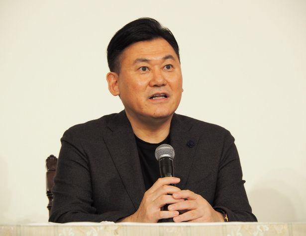 楽天株式会社代表取締役会長兼社長の三木谷浩史