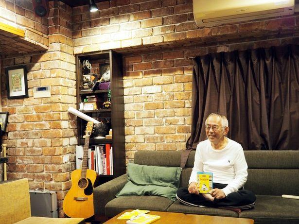 鈴木敏夫プロデューサーのアトリエで取材が行われた