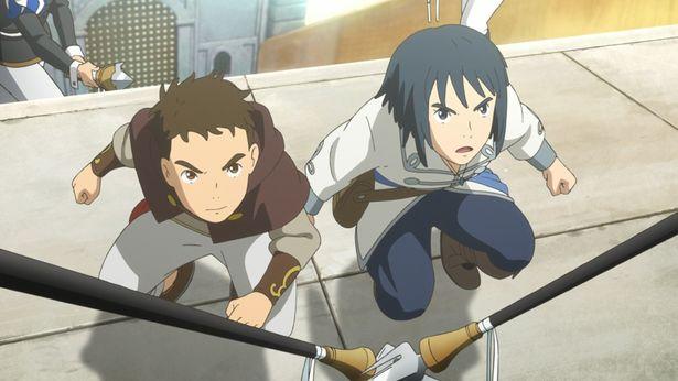幼なじみの高校生3人、ユウ(右)とハル(左)に、ハルの恋人・コトナを巡る物語が展開