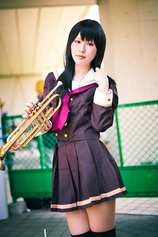 「響け!ユーフォニアム」の高坂麗奈に扮した、夕霧さん(@yugirin_0511)