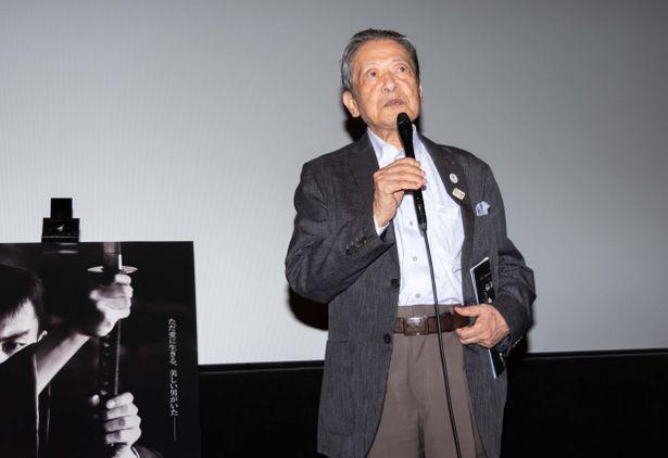 「市川雷蔵祭」トークショーに、元大映取締役/宣伝部長の櫻井正伍が登壇!