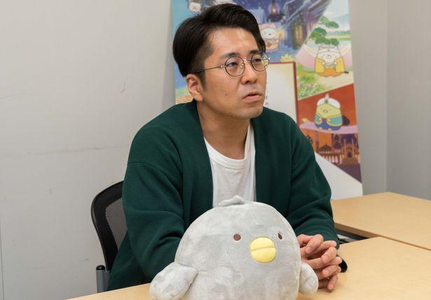 本作に携わるまで「すみっコぐらし」の存在を知らなかったという角田貴志