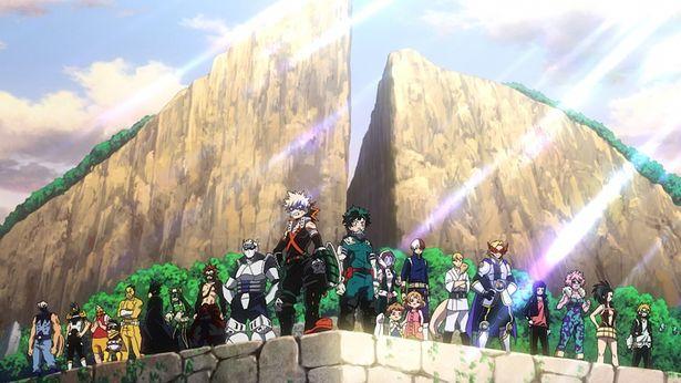 【写真を見る】雄英高校ヒーロー科1年A組のメンバーが大集合!